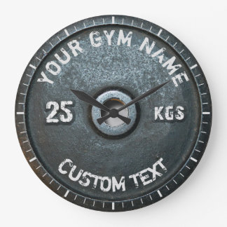 Vintage Gym Owner or User Fitness Funny Large Clock