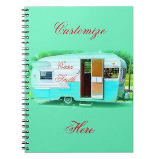 vintage gypsy caravan casa notebooks