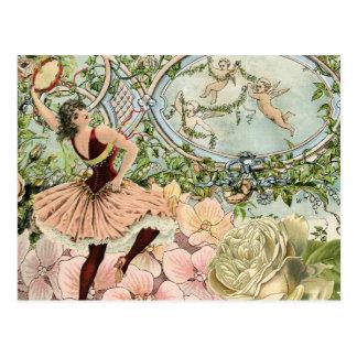 Vintage Gypsy Dancing Ephemera Postcard