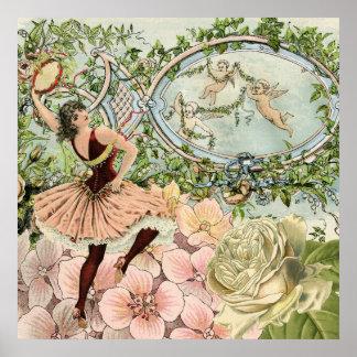 Vintage Gypsy Dancing Ephemera Poster