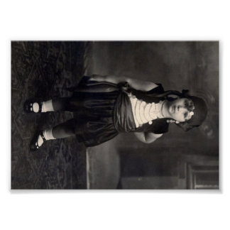 Vintage Gypsy Girl - old Black and White Photo Poster