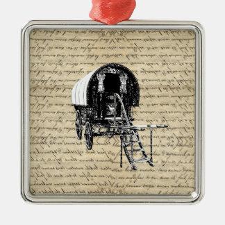 Vintage Gypsy wagon Christmas Ornament