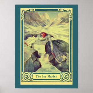 Vintage H.C. Andersen fairy tale The Ice Maiden Print