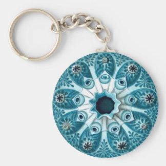 Vintage Haeckel Botryllus Polycyclus Fine Art Basic Round Button Key Ring