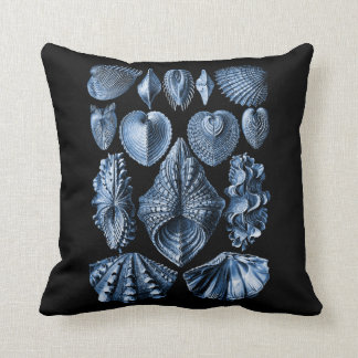 Vintage Haeckel Seashells Pillow