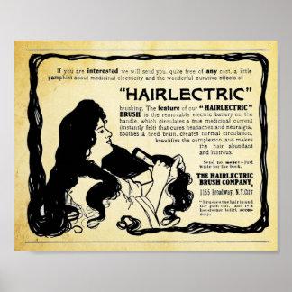 Vintage Hairlectric Hair Brush Print