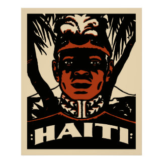 Vintage Haiti Travel Poster