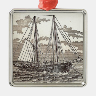 Vintage Halibut Schooner Ornament