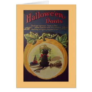 Vintage Halloween Advice Greeting Card