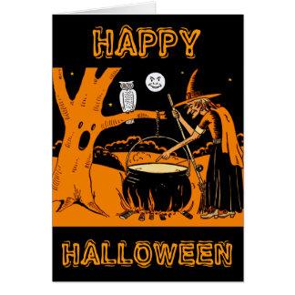 Vintage Halloween Art Greeting Card