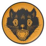Vintage Halloween Black Cat Dinner Plate