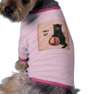 Vintage HALLOWEEN Black Cat Pet T Shirt