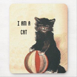 Vintage HALLOWEEN Black Cat Mousepads