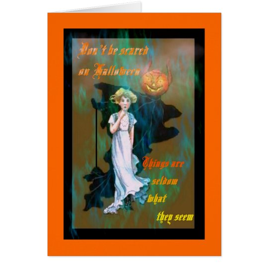 "Vintage Halloween card ""Look"""