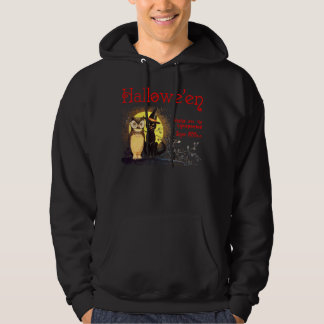 Vintage Halloween Cat and Owl Sweatshirts