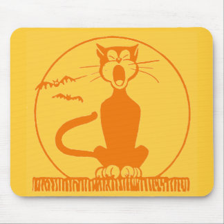 Vintage Halloween Cat Mouse Pad