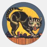 Vintage Halloween Cat Sticker