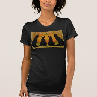 Vintage Halloween Cats and Jack O'Lantern T-Shirt