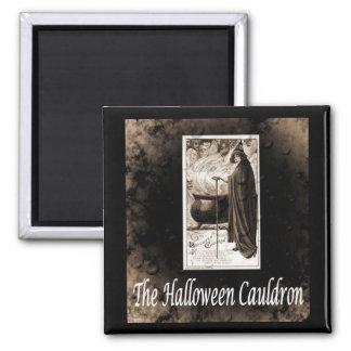 Vintage Halloween Cauldron Magnets