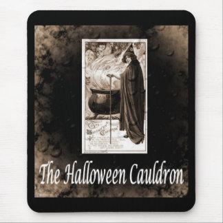 Vintage Halloween Cauldron Mousepads