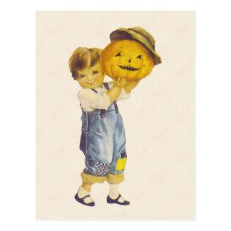 Vintage Halloween Child Postcard