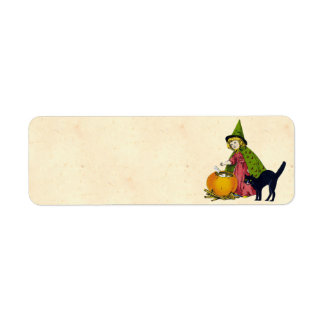 Vintage Halloween Child Return Address Label