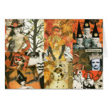 Vintage Halloween Collage Greeting Card