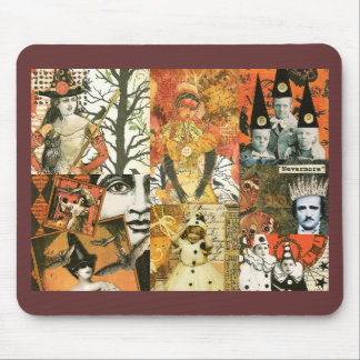 Vintage Halloween Collage Mousepads