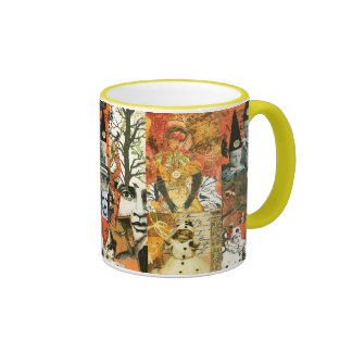 Vintage Halloween Collage Coffee Mugs