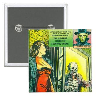 Vintage Halloween Comic Book Button