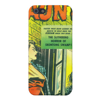 Vintage Halloween Comic Book Cover For iPhone 5
