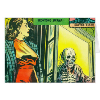 Vintage Halloween Comic Book Greeting Card