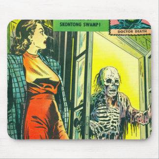 Vintage Halloween Comic Book Mouse Pads