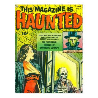 Vintage Halloween Comic Book Postcard