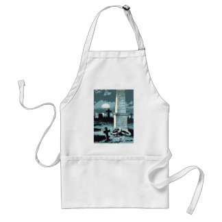 Vintage Halloween, Creepy Cemetery with Graves Standard Apron