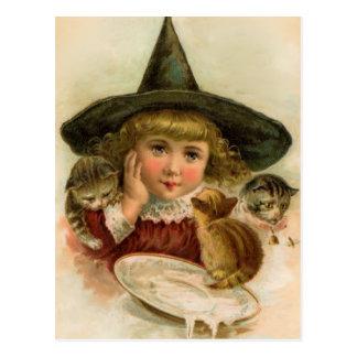 vintage Halloween cutie Postcard