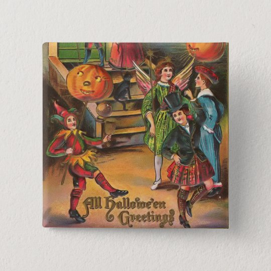Vintage Halloween Dance 15 Cm Square Badge