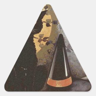 Vintage Halloween Design Triangle Sticker