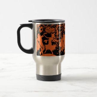 Vintage Halloween Devil Witch Dance Mugs