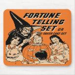 Vintage Halloween Fortune Telling Set Mousepad