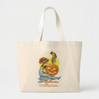 Vintage Halloween Glamour Jumbo Tote Bag