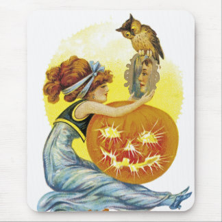 Vintage Halloween Glamour Mouse Pad