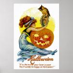 Vintage Halloween Glamour Print