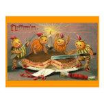 Vintage Halloween Goblins Postcard