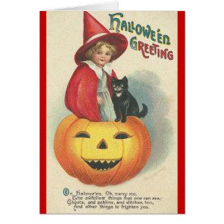 Vintage Halloween Greeting Greeting Card