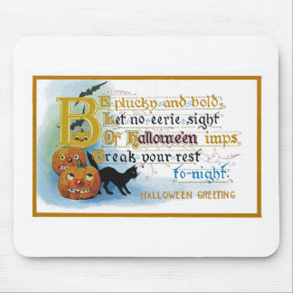 Vintage Halloween Greeting Card Mouse Pads