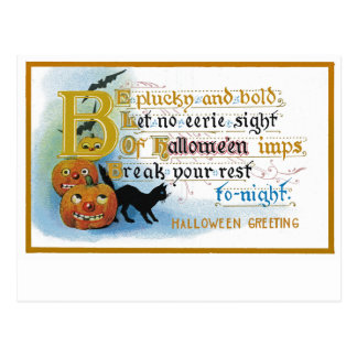 Vintage Halloween Greeting Card Postcard
