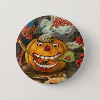 Vintage Halloween Greeting Cards Classic Posters 6 Cm Round Badge
