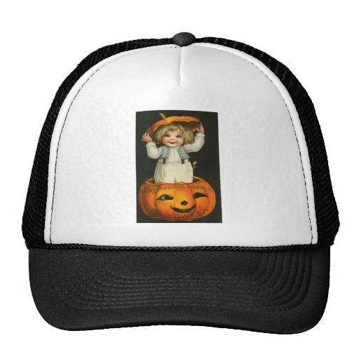 Vintage Halloween Greeting Cards Classic Posters Cap