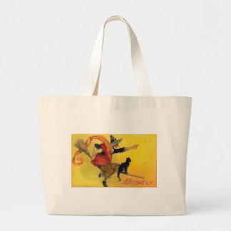 Vintage Halloween Greeting Cards Classic Posters Large Tote Bag